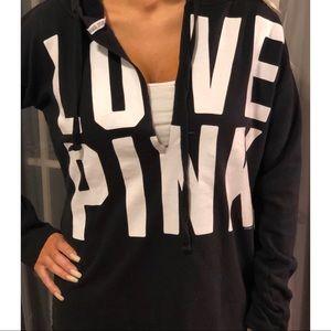 Victoria's Secret Pink Rare V neck Hoodie Top